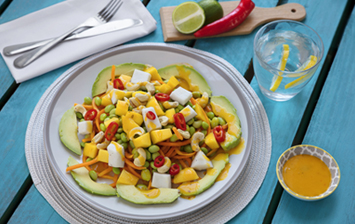 Coconut, Mango & Chili Edamame Bean Salad