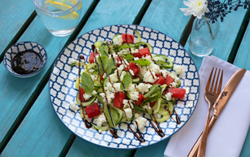 Watermelon, Feta & Cucumber Noodle Salad