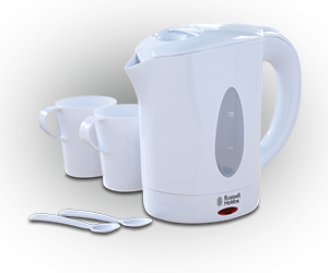 Russell Hobbs White Plastic Travel Kettle 850ml 14178