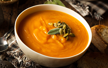 Butternut Squash & Pesto Soup