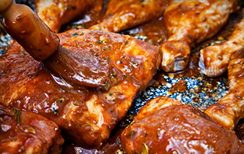 Chicken with Barbecue Sauce