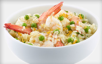 Prawn Pea and Pancetta Risotto