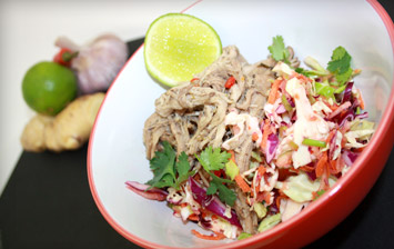 Slow Cooked Pork with Vietnamese Coleslaw