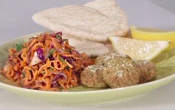 Falafels with Spicy Carrot Salad
