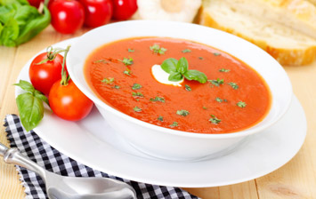 Tomato, Red Pepper and Basil Soup