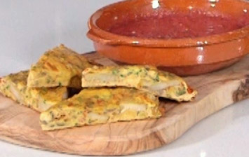 Vegetable Frittata with Tomato Salsa