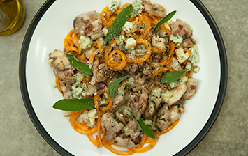 Butternut Squash Noodles with Chicken and Sage