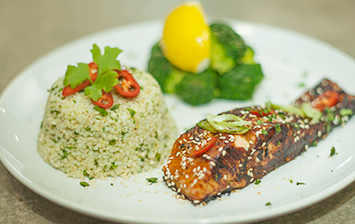 Honey, Soy and Sesame Salmon