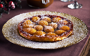 Pear and Salted Caramel Tart