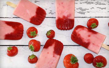 Strawberries and Cream Ice Lolly