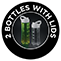2 portable bottles with lids