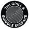 2 in1 grill & griddle surface
