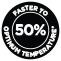 50 %-kal gyorsabb felmelegedés*