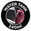 240 ml víztartály kapacitás