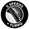 5 Speeds and Turbo