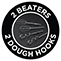 2 Beaters 2 Dough Hooks