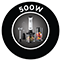 500 W teljesítmény