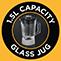 1,5 literes üvegkehely kapacitás