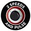 2 sebességfokozat és pulzáló funkció