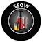 550 W teljesítmény