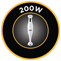 200 W teljesítmény