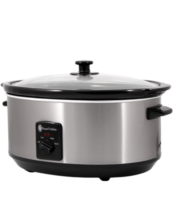 Russell Hobbs AU 6L Slow Cooker - Brushed RHSC600
