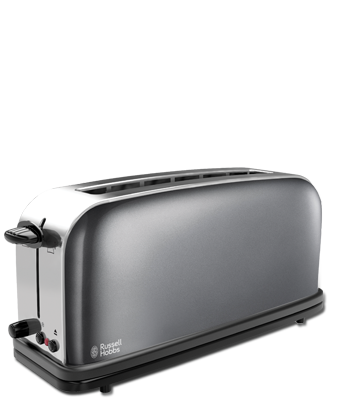 Russell Hobbs MT Storm Grey Long Slot Toaster 21392-56
