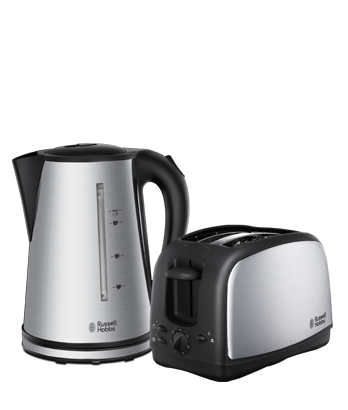 Russell Hobbs UK Essentials (York) Stainless Steel Twin Pack 21831