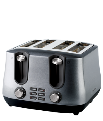Russell Hobbs AU Siena 4 Slice Toaster - Antique Silver RHT44SIL