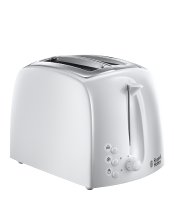 Russell Hobbs UK Textures Toaster White - 2 Slice 21640