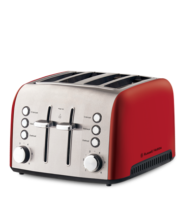 Russell Hobbs AU Heritage Vogue 4 Slice Toaster - Red RHT54RED