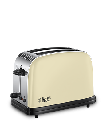 Russell Hobbs UK Colours Plus Cream 2 Slice Toaster 23334