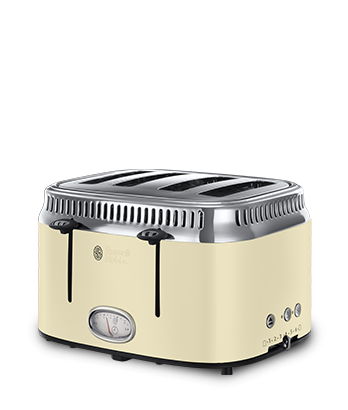 Russell Hobbs UK Retro Cream 4 Slice Toaster 21692