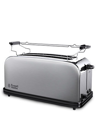 Toasters Glass Steel White & Black Toasters Russell Hobbs EU