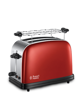 Russell Hobbs EU Colours Plus Flame  Red 2 Slice Toaster 23330-56