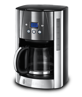 Russell Hobbs MT Luna Moonlight Grey Coffee Maker with Glass Carafe 23241-56