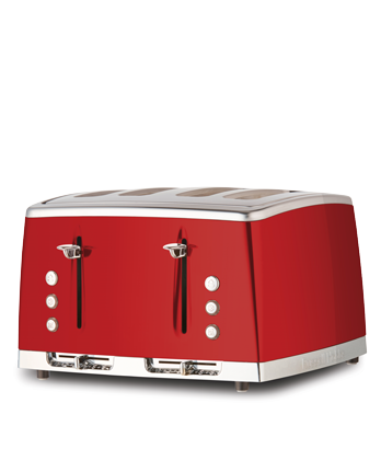 Russell Hobbs AU Lunar 4 Slice Toaster - Ruby Red RHT64RBY