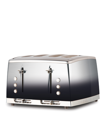 Russell Hobbs AU Lunar Ombre 4 Slice Toaster - Midnight Black RHT64BLKF
