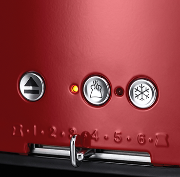Russell Hobbs UK Retro Red 4 Slice Toaster 21690