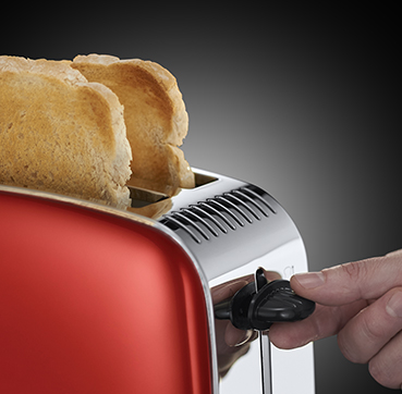 Russell Hobbs SI Colours Plus Flame  Red 2 Slice toaster 23330-56
