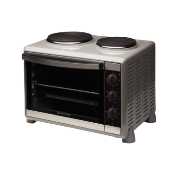 Russell Hobbs AU Compact Kitchen Convection Oven with Hotplates RHTOV2HP
