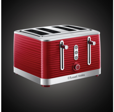 Russell Hobbs AU Inspire 4 Slice Toaster Red RHT114RED
