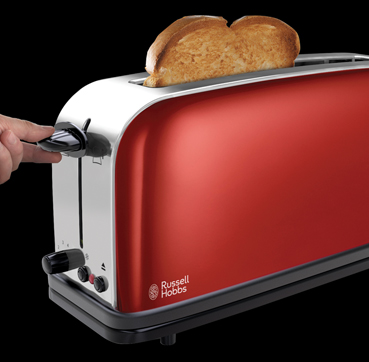 Russell Hobbs MT Flame Red Long Slot Toaster 21391-56