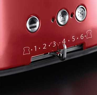 Russell Hobbs SI Retro Ribbon Red 4 Slice opekač 21690-56