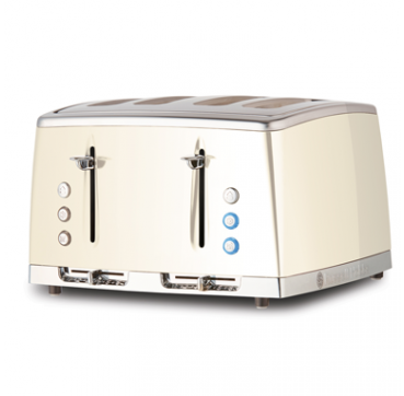 Russell Hobbs AU Lunar 4 Slice Toaster - Pearlescent White RHT64WHI