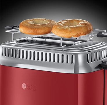 Russell Hobbs MT Retro Ribbon Red 2 Slice Toaster 21680-56