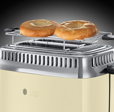 Russell Hobbs AT Retro Vintage Cream Toaster 21682-56
