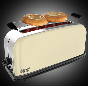 Russell Hobbs SI Colours Plus Classic Cream 2 Slice Long Slot toaster 21395-56