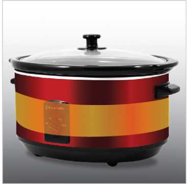 Russell Hobbs AU 6L Slow Cooker - Ruby Red RHSC600RED