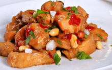 Spicy Asian Chicken with Peanuts